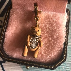 Juicy Couture Cute Brown Teddy Bear Retired Charm